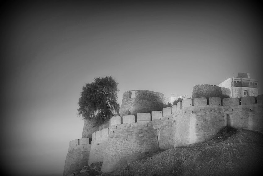 Morgan's Milieu | Secrets: Fortress, Castle - black and white