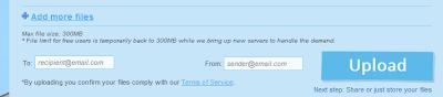 Sending Large File Using Sendpace