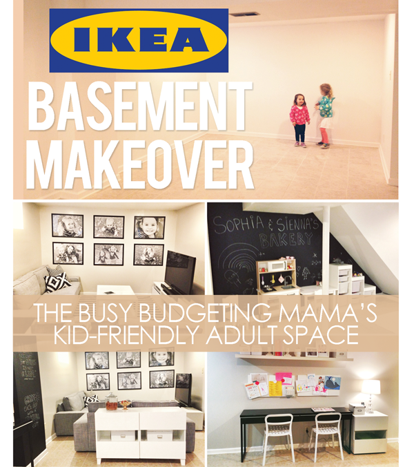 Our ikea basement makeover a kid friendly adult space for Basement storage ideas ikea