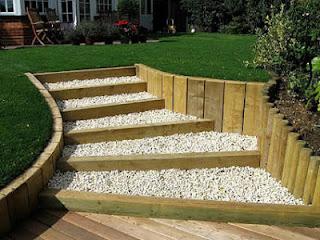 Dekogama como decorar una escalera for Como organizar jardin exterior