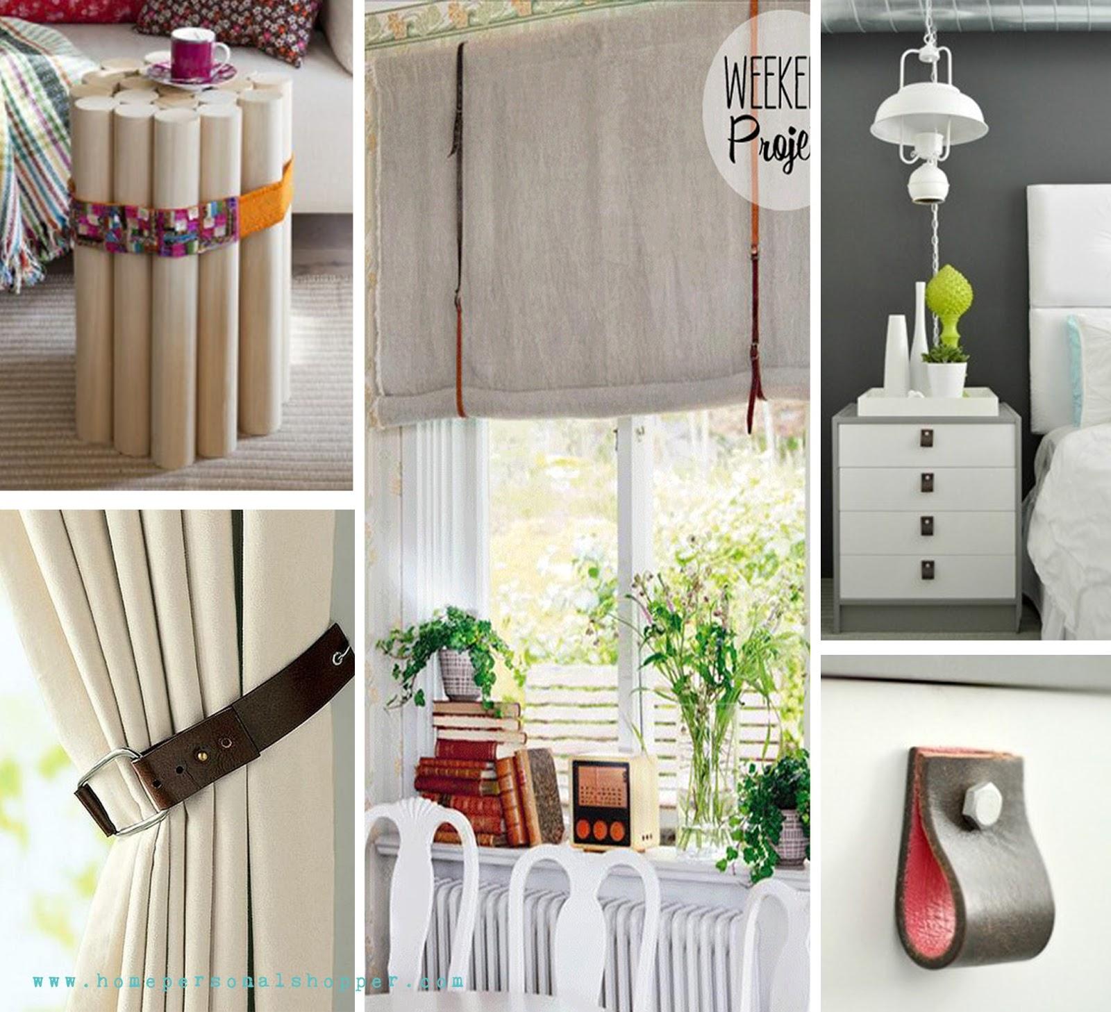 Reutiliza tus cinturones bricolaje for Decoracion reciclaje interiores