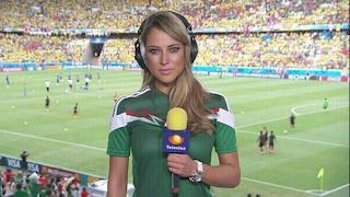La présentatrice mexicaine Vanessa Huppenkothen