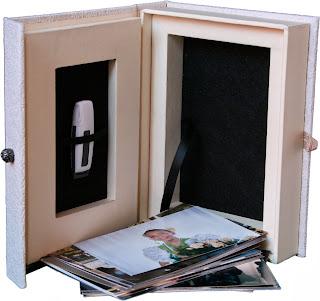 Estuche caja para pendrive USB y fotos