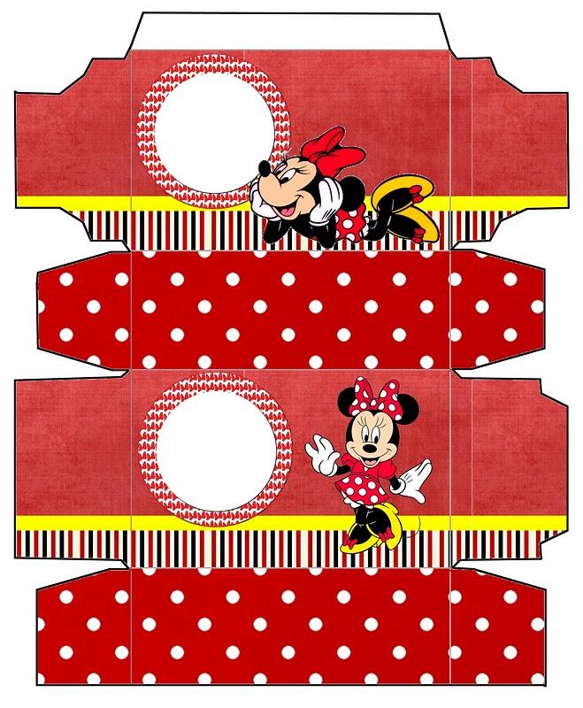 Minnie Vermelha – Kit Completo de molduras para convites, rótulos