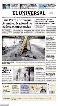 23/01/2020 PRIMERA PAGINA DEL UNIVERSAL DE VENEZUELA