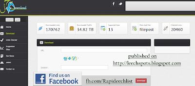 Rapidgator, Uploaded,Bitshare Leech