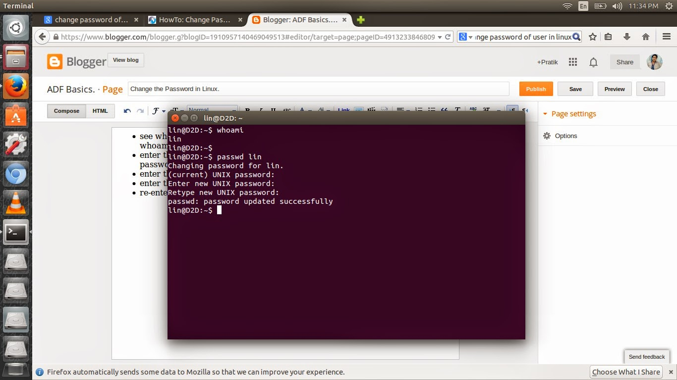 ubuntu change wallpaper via terminal This is my contribute for ubuntu 1710 (unlock and login root user)- first open a terminal and run sudo passwd root — to change the root password, thensudo vim /etc/gdm3/customconf- under [security] type allowroot = true so that it looks like[security.