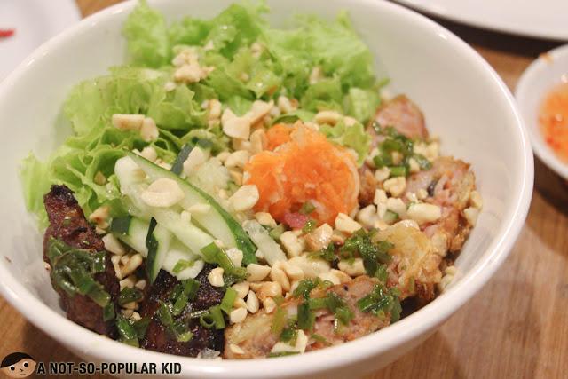 Bun Cha Gio Thit Nuong - Vietnamese Dish Noodles