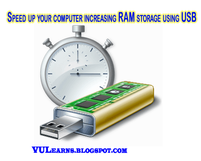 speed up your computer by increasing the RAM using USB