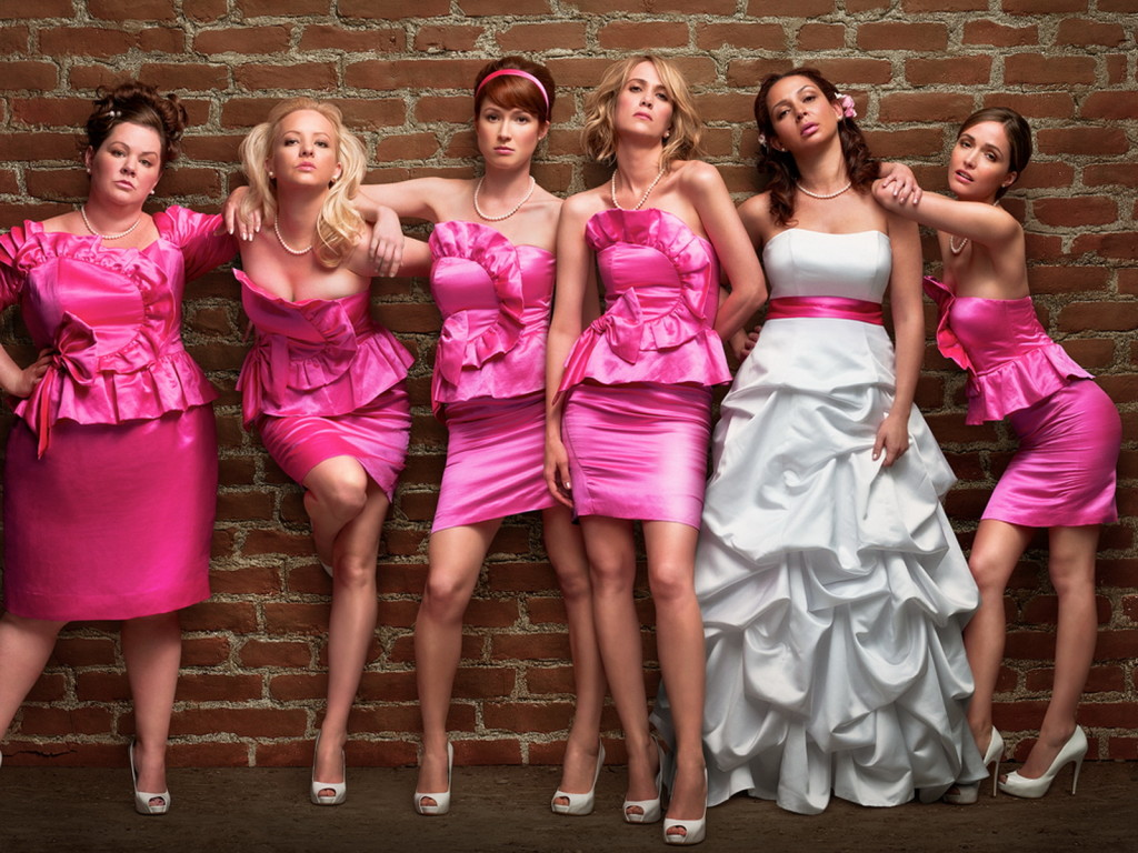 Photos of wedding dresses: 12 ideas: hot pink bridesmaid dress