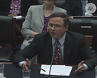 Photo of Jim Fruchterman delivering a congressional testimony statement before the House Committee on the Judiciary, August 1, 2013