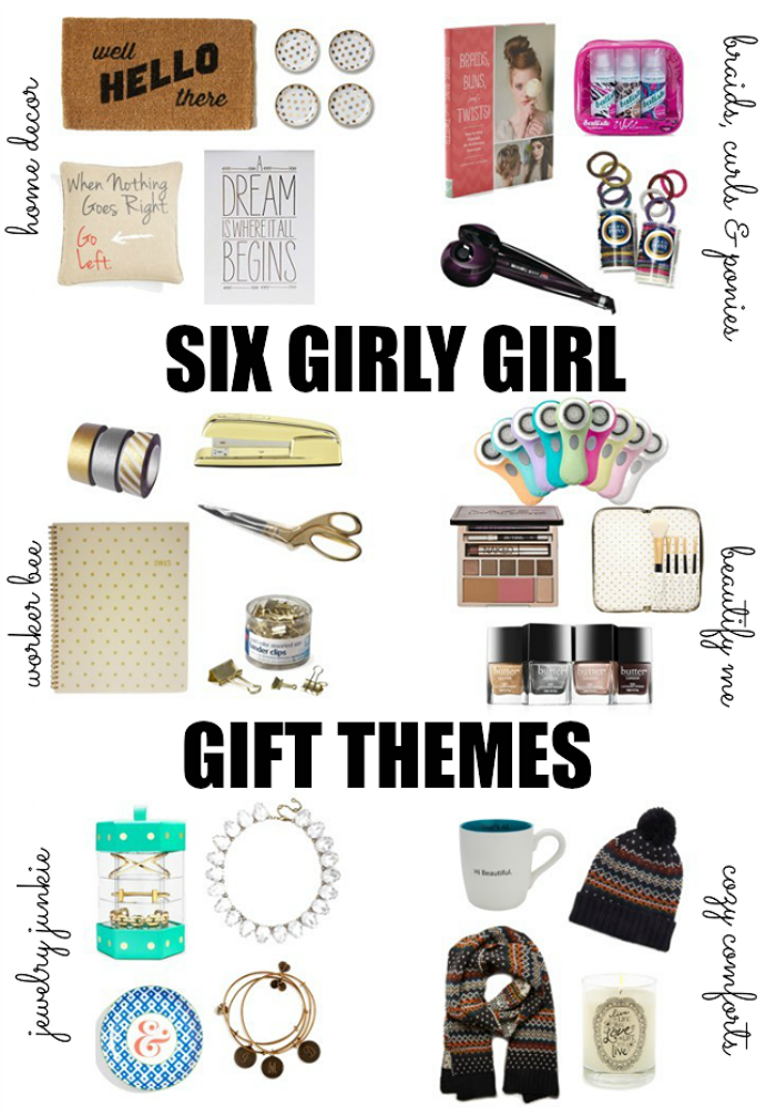 Six Themes for Christmas present s for the girls holiday gift guide