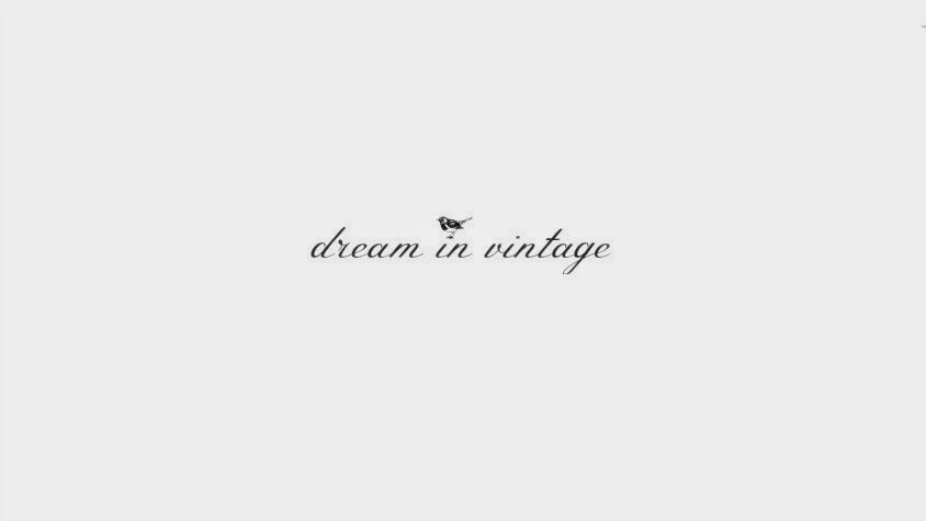 the dream in vintage blog.