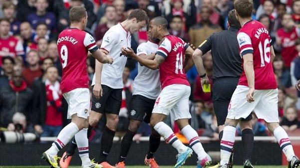 Premier League: Arsenal vs Manchester United 28/04/2013