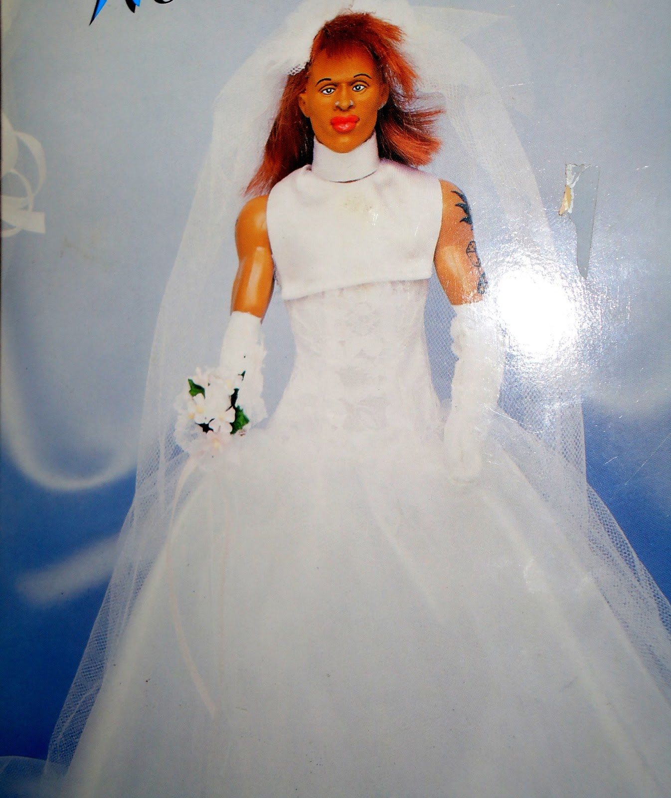 dennis rodman wedding dress doll dennis rodman wedding dress