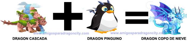 como conseguir el dragon copo de nieve en dragon city combinacion 2