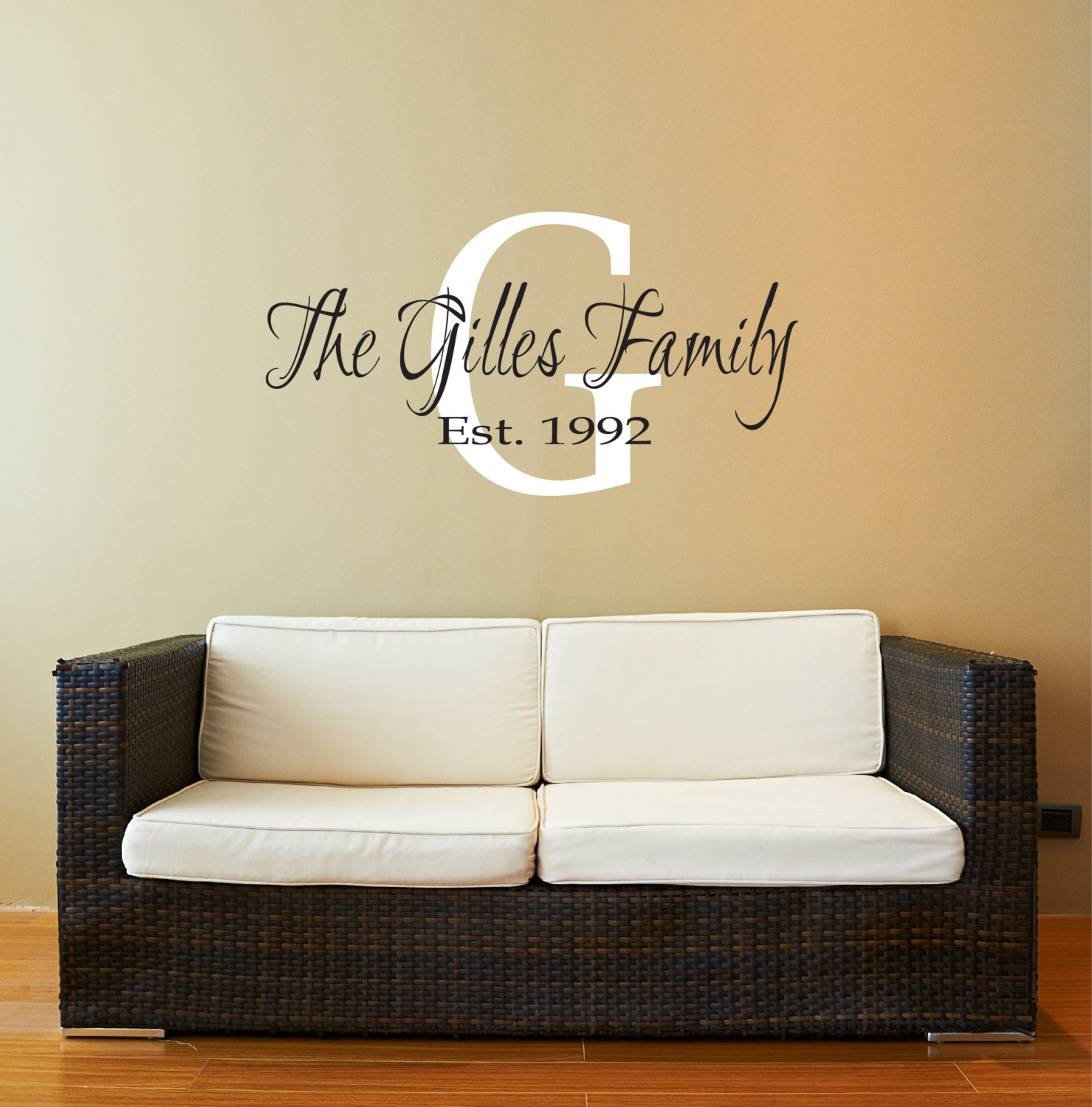 Fancy I um smitten over the Family Name Decal What classic elegance this would add to your home