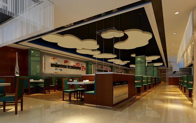 Mẫu trần thạch cao nhà hàng đẹp