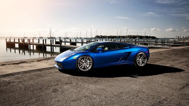 Italian Blue Sports Car