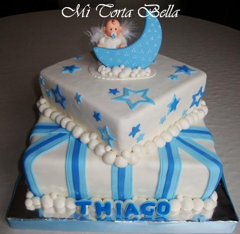 Decoración de tortas de bautismo para varon - Imagui