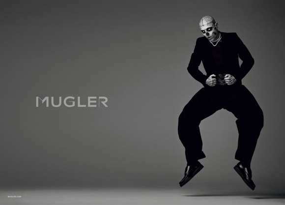 rick genest for mugler