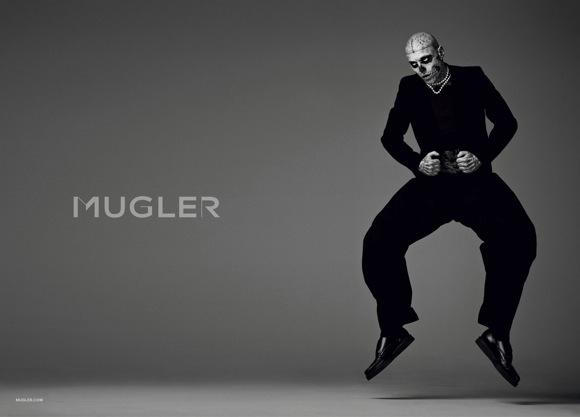 rick genest for mugler