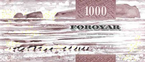 Faeroe Islands 1.000 Kronur