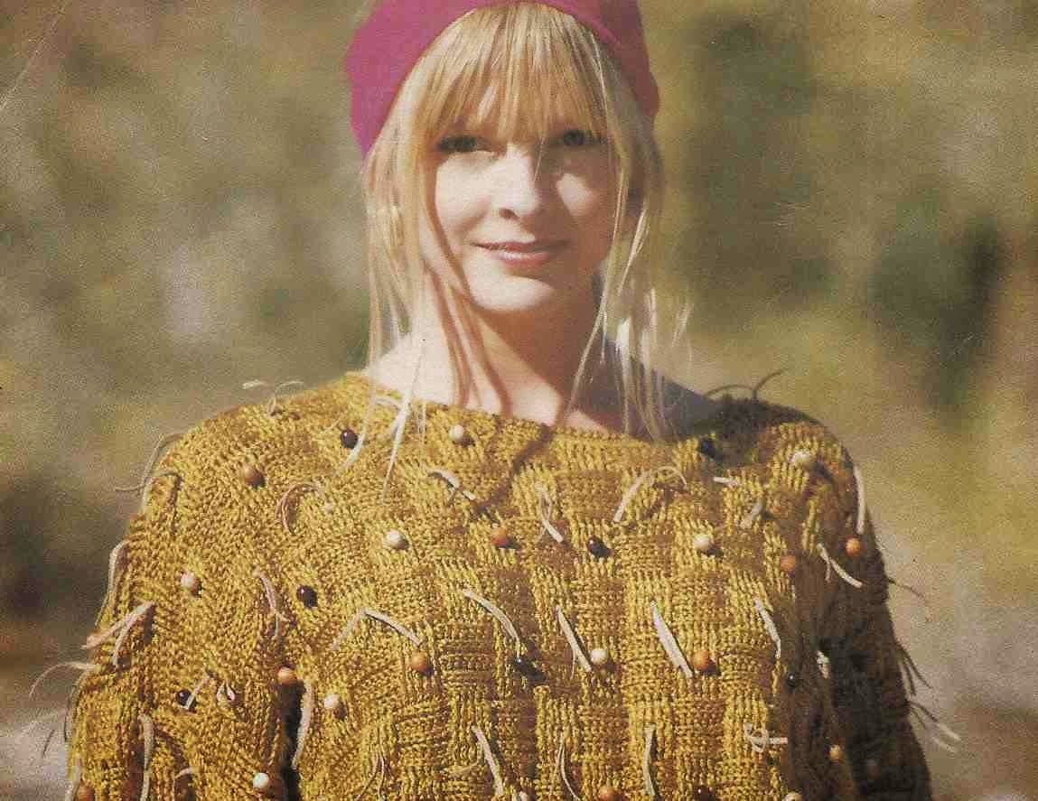Jersey con Punto Entretejido a Crochet o Ganchillo