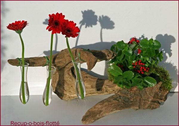 Bois flott bricolage recup recyclage deco marine le for Composition florale avec bois flotte