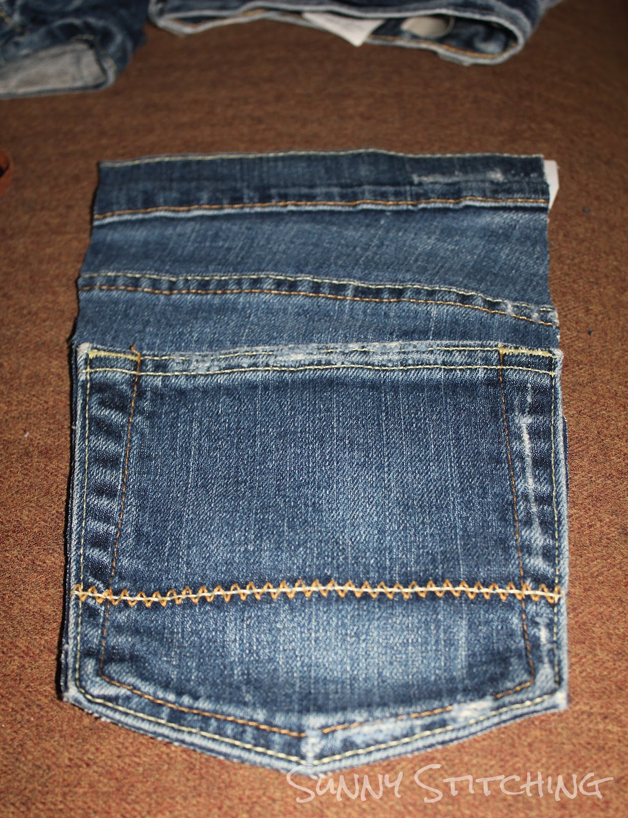 how to cut pockets out of jeans