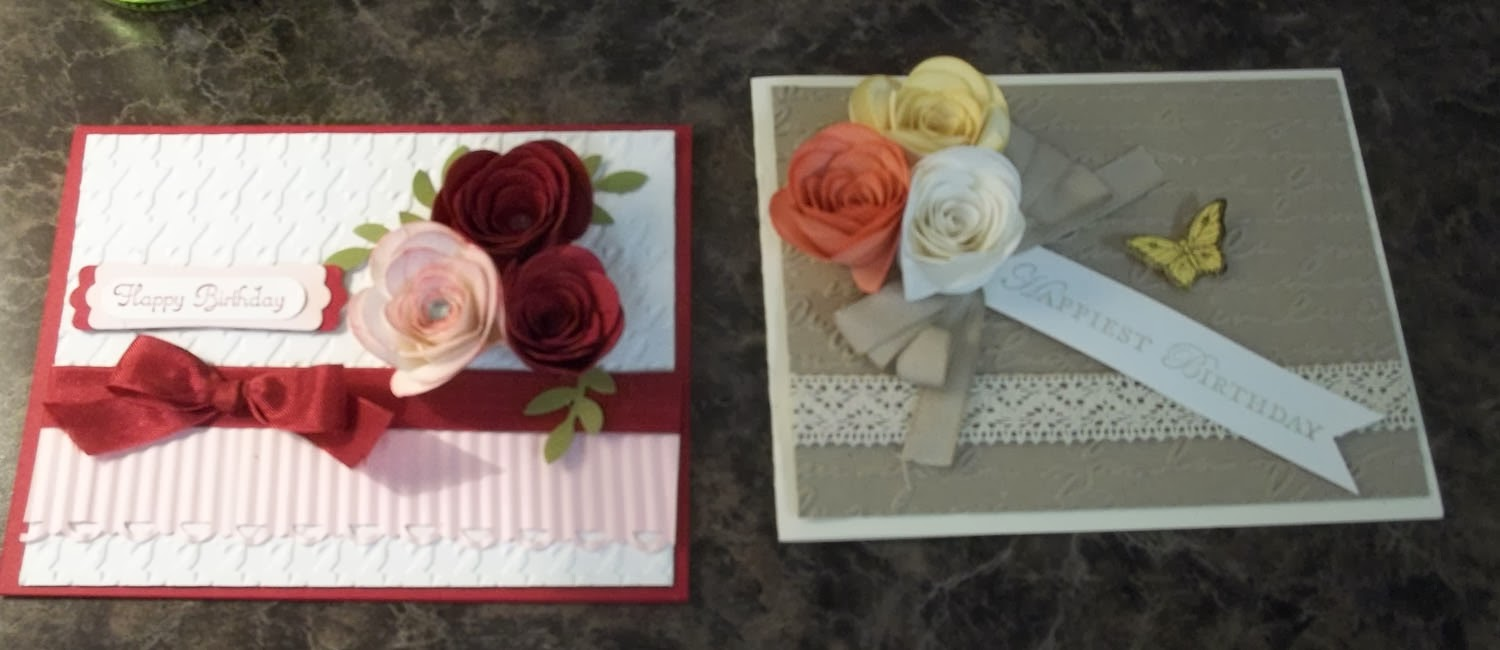 Cards made with Stampin'UP!'s Spiral Flower Die