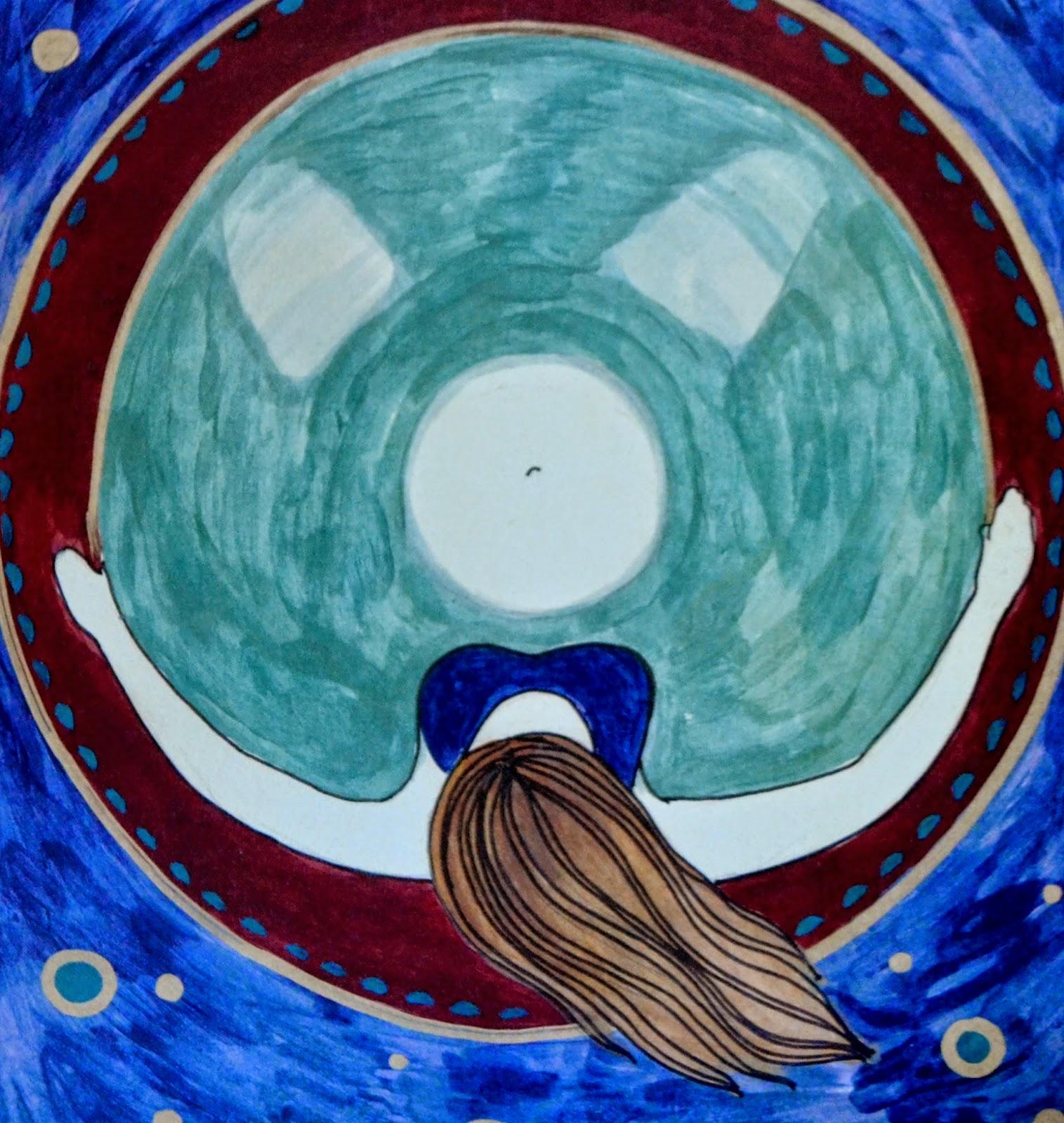 water birth art painting natural birth