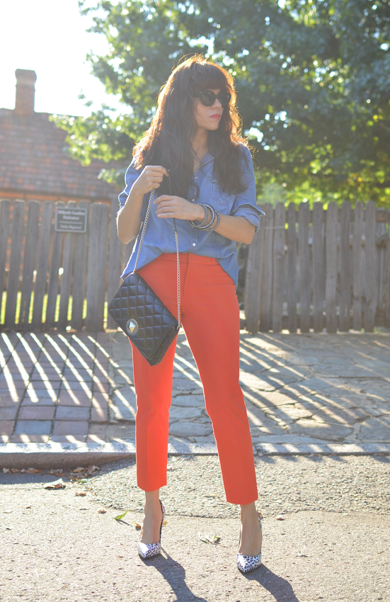 Orange pants street style