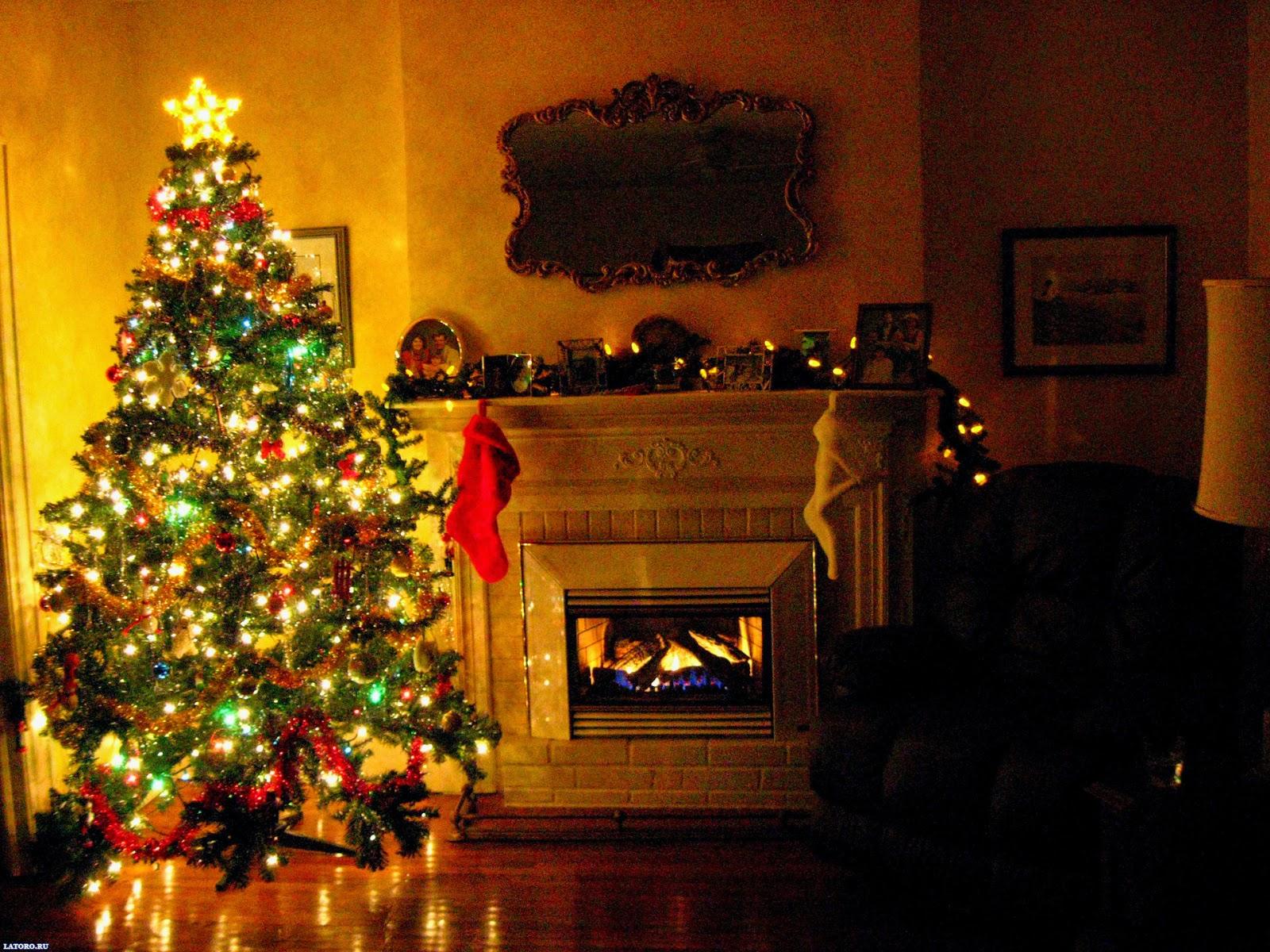 tree christmas house wallpaper - photo #7
