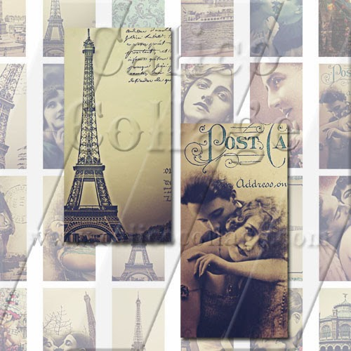 calico collage high quality digital collage sheets paris dreams instant download digital. Black Bedroom Furniture Sets. Home Design Ideas
