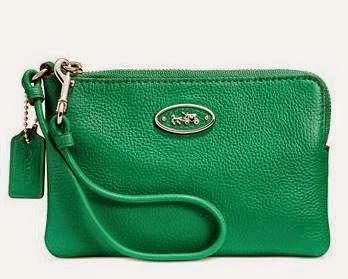 COACH L Zip Small Leather Wristlet 52553