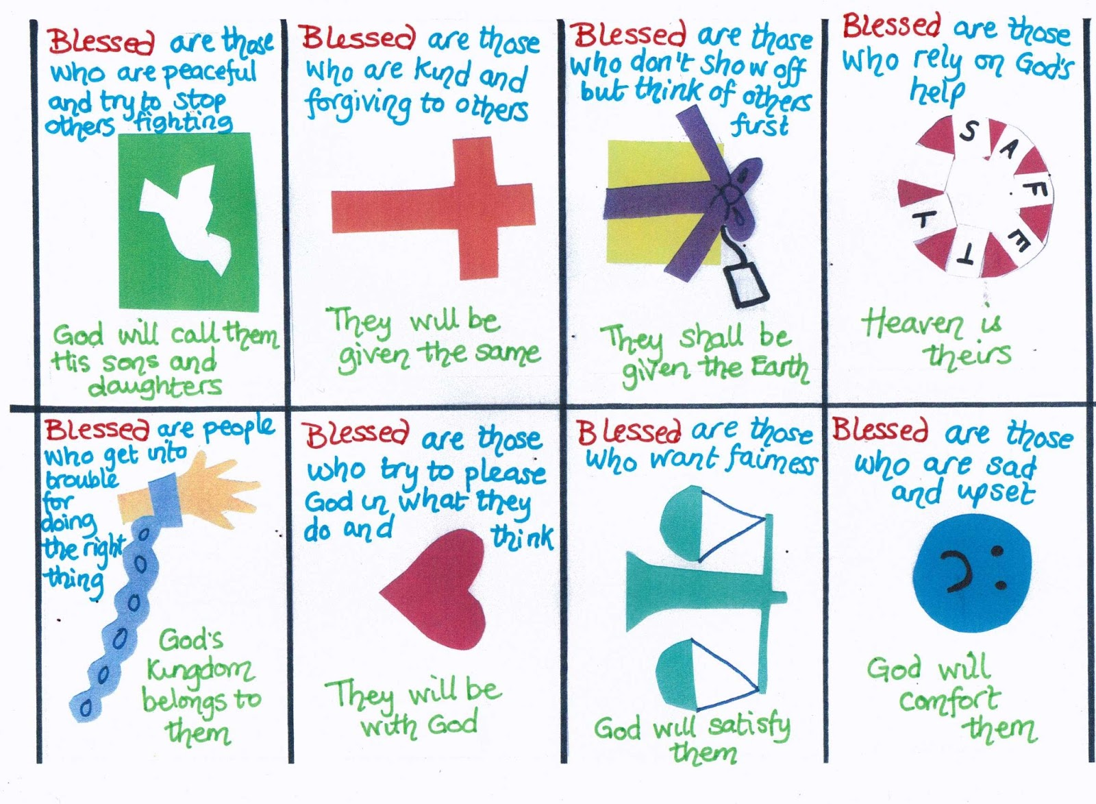 Beatitudes cards (explaining the Beatitudes in child friendly language ...