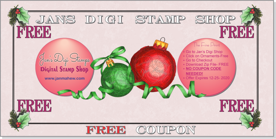 Free Christmas stamp at Jan's Digis