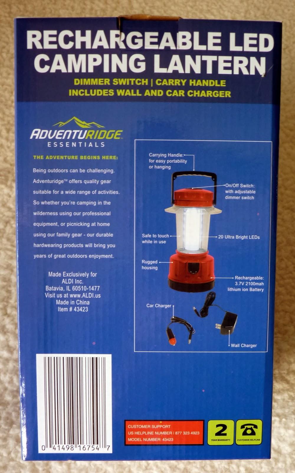 adventuridge rechargeable led camping lantern aldi. Black Bedroom Furniture Sets. Home Design Ideas