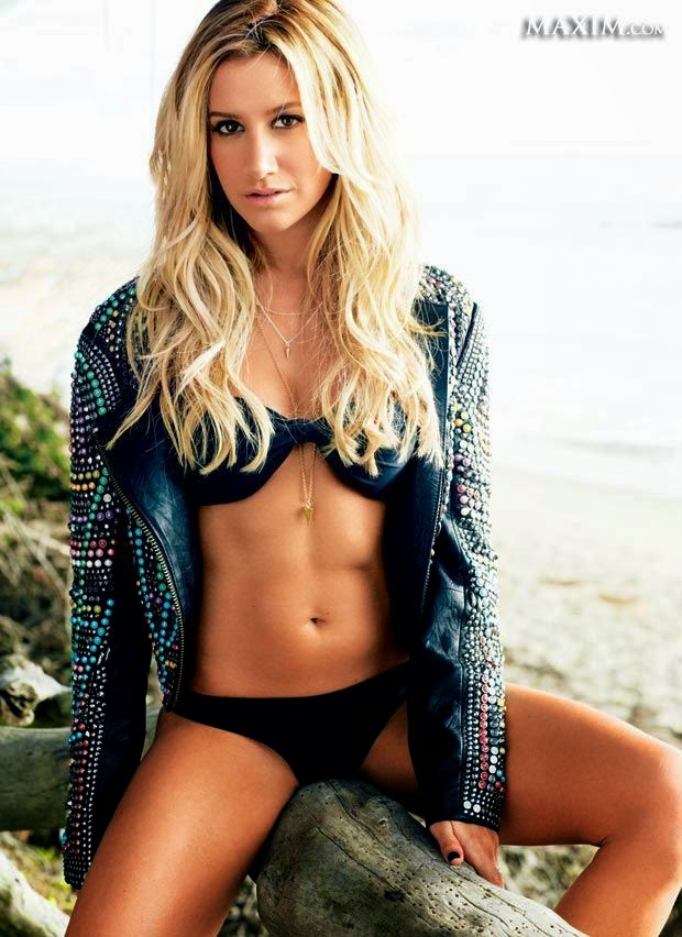 The blonde beauty, Ashley Tisdale puts her incredible Bikini body for 33 spot.