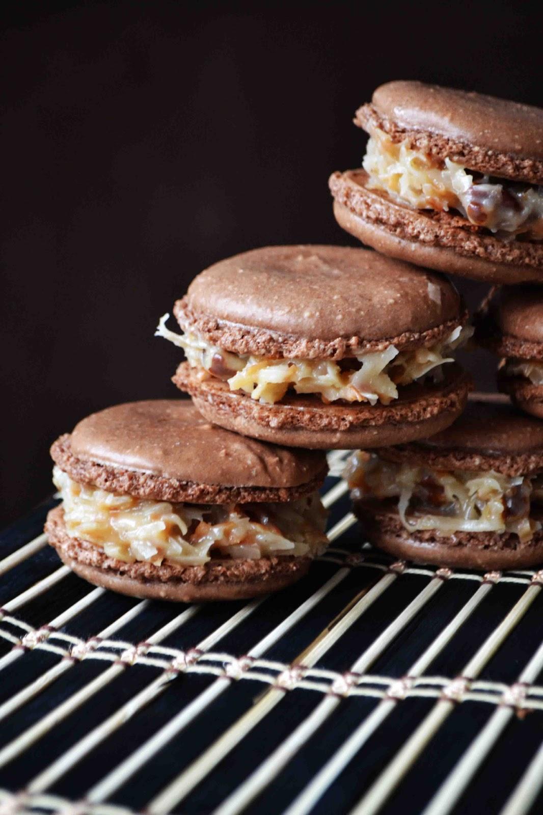 Bakeaholic Mama: German Chocolate Macarons