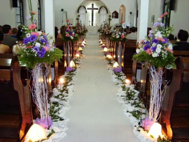 decoracao branco e lilas para casamento:Para noivas: Decoração de casamento lilás e branco