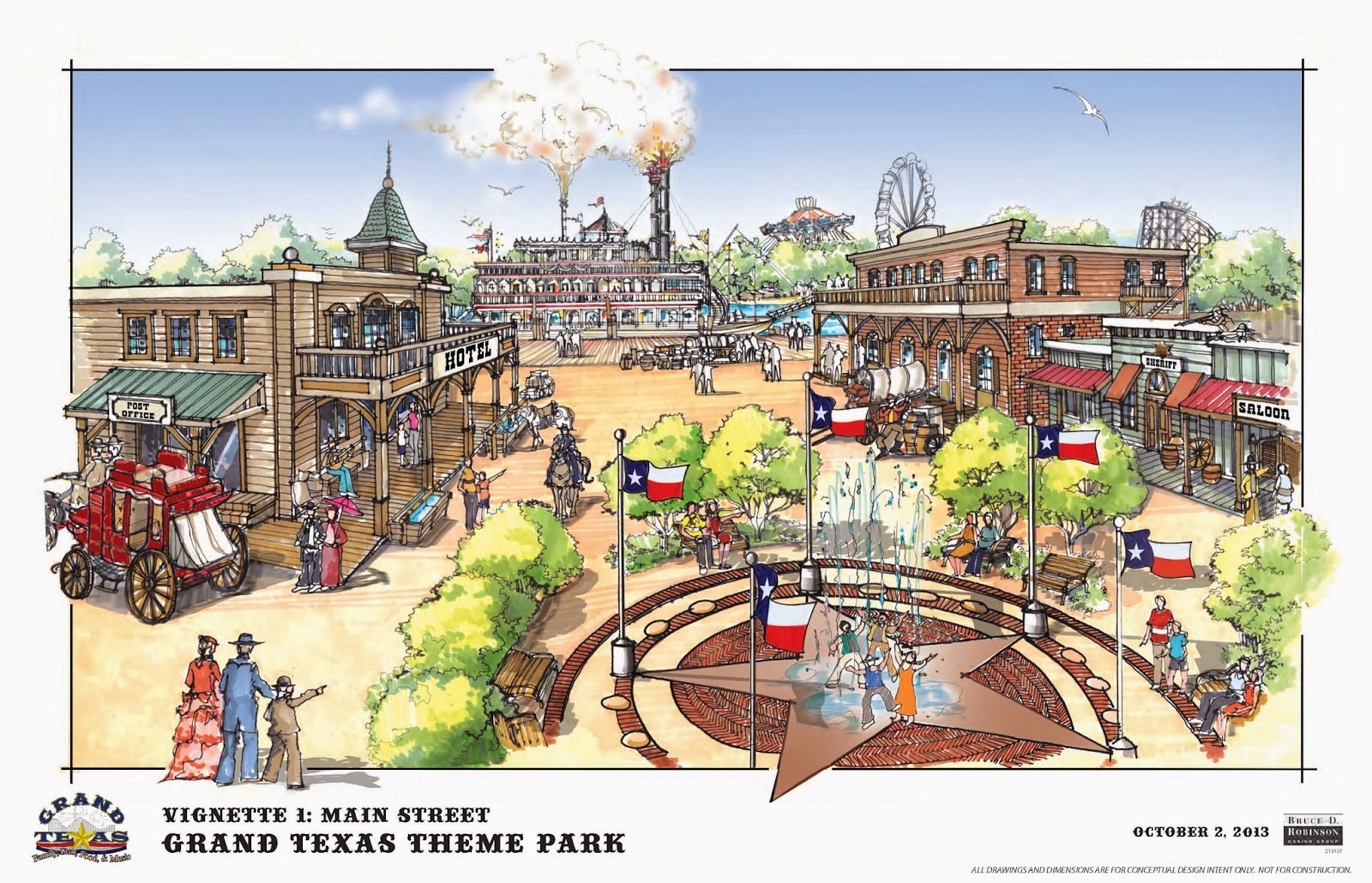 NewsPlusNotes: Grand Texas Theme Park Showing Off Plans