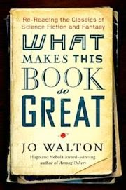 cover art for What Makes This Book So Great, featuring the title superimposed over a stack of yellowed paperbacks