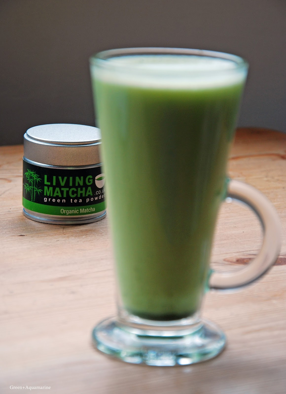Living Matcha Tea, Matcha latte. 100% organic, raw, vegan and gluten free