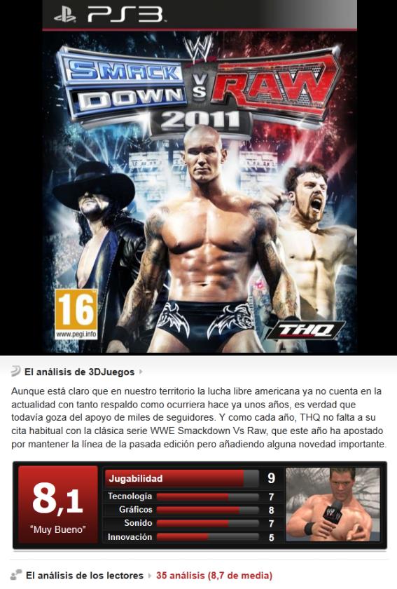 WWE SmackDow vs RAW 2011 [Multi][3.55][PS3]