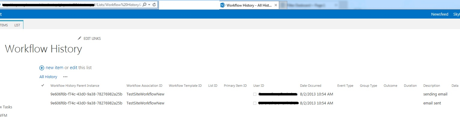 SharePoint PitStop: SharePoint Workflow History List URL