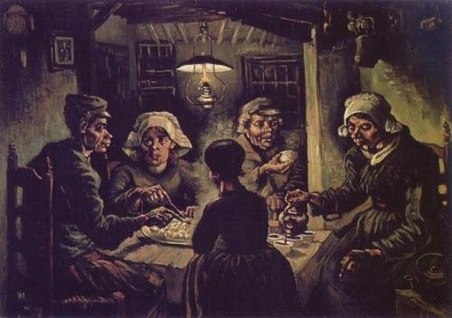 """Vincent Van Gogh, """"The Potato Eaters,"""" 1885"""