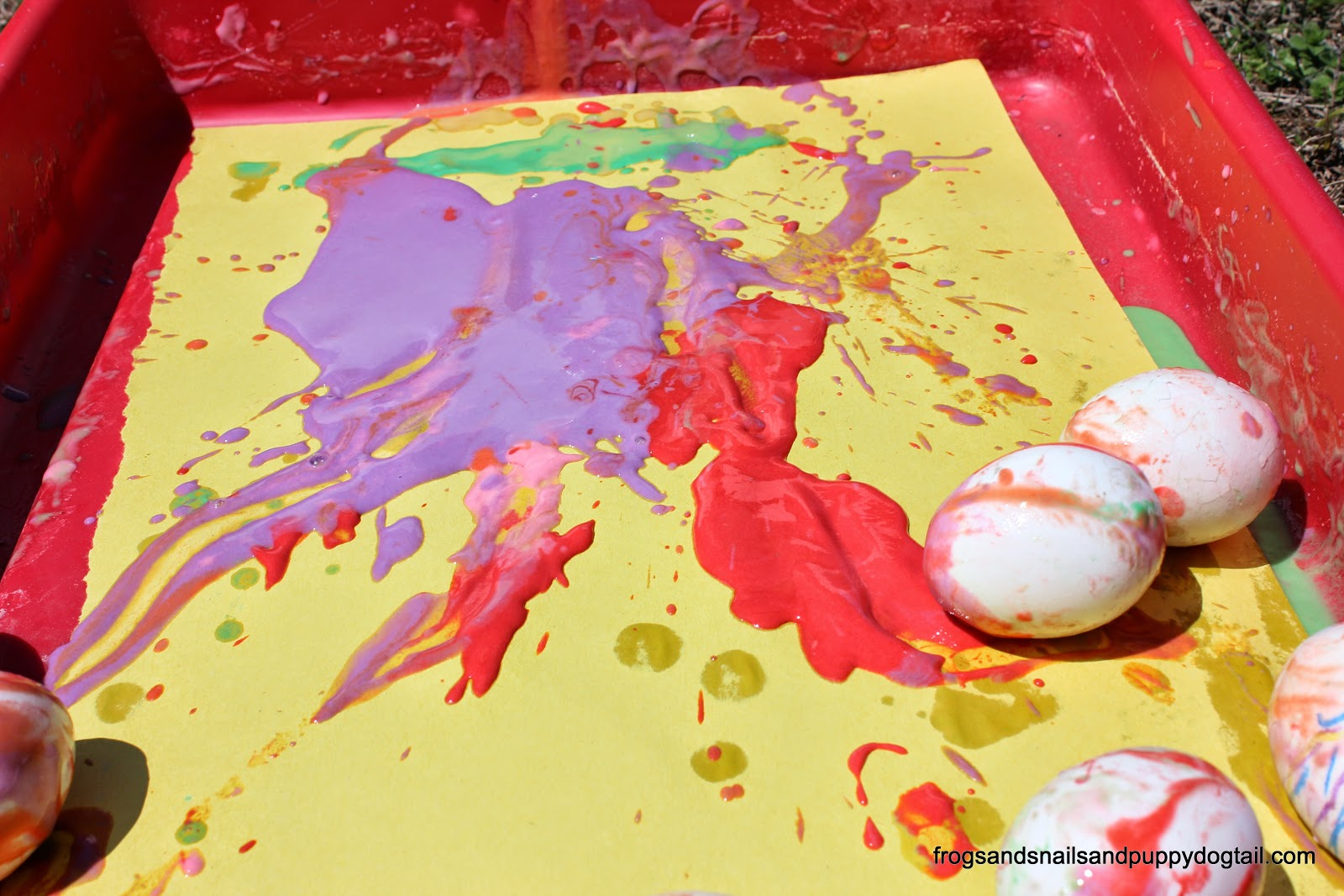 Egg slide Painting