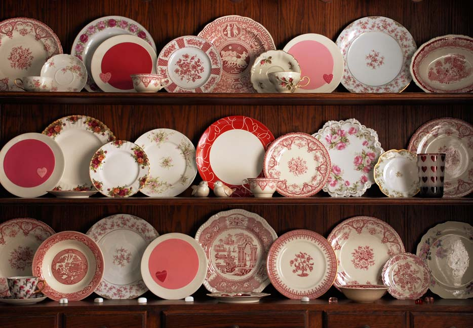 Welsh Dresser hutch with Valentine china cabinet
